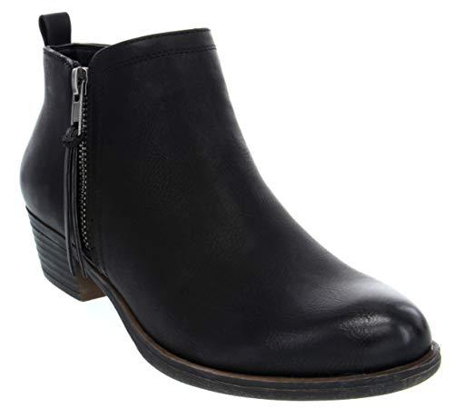LONDON FOG Women's Tina Ankle Bootie Black 9