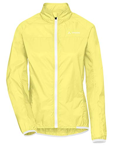 VAUDE Damen Jacke Women's Air Jacket III, Windjacke für Radsport, 80 % winddicht, mimosa, 38, 408069780380