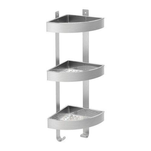 Ikea GRUNDTAL–Ecke Wandregal, Edelstahl–26x 58cm