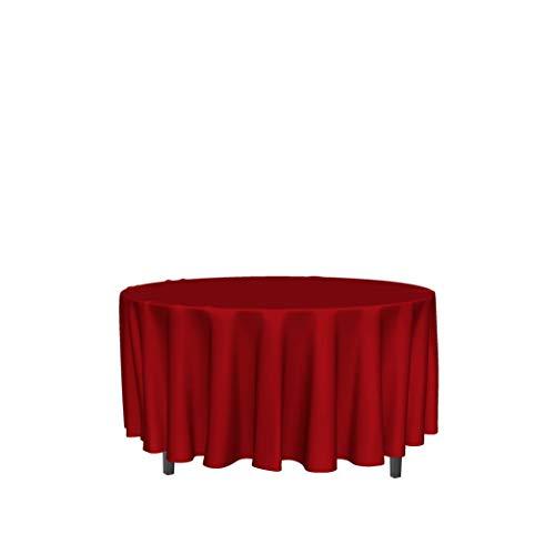 Mantel Antimanchas Redondo 180 cm Alix Rojo