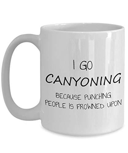 Voy a practicar barranquismo porque las personas que golpean no ven con buenos ojos la divertida taza de café, el regalo de la taza del amante del café y el té, la taza con sarcasmo o la cerámica blan