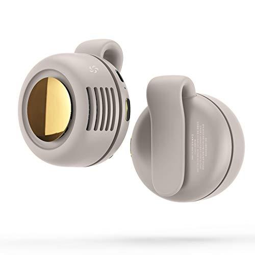 GYAM Ventilador USB portátil Mini Ventilador con Clip de enfriamiento Personal para Oficina Hogar Viajes Verano Aire Acondicionado más Fresco,Blanco