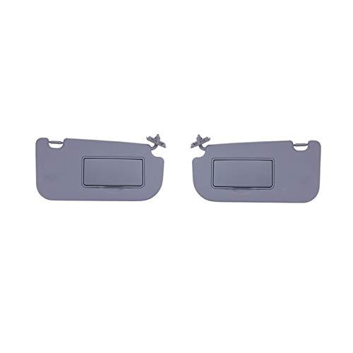 MeiZi 1pair Coche Interior Sun Visor Shield Shade Tablero con Mirror Fit para Kia Sportage 2005 2006 2007 2009 2009 2010 Gris (Color : Gray)