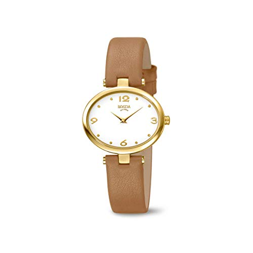 Boccia Damen Analog Quarz Uhr mit Leder Armband 3295-04