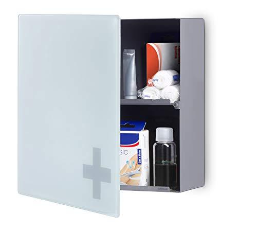 *Blomus Erste-Hilfe-Schrank, Edelstahl, Glas satiniert, 35 x 35 x 12 cm*