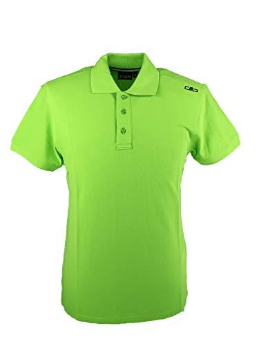 CMP Herren Poloshirt Piquet aus 100{9478f7e16544b6e38e75f7506d34a2805832f27d1e966bfec72dcdf600c34de1} Baumwolle, Energy, 56