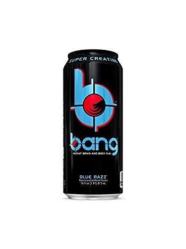Bang 新品 送料無料 Energy Drinks - 6 Razz cans 供え 16 Blue ounce
