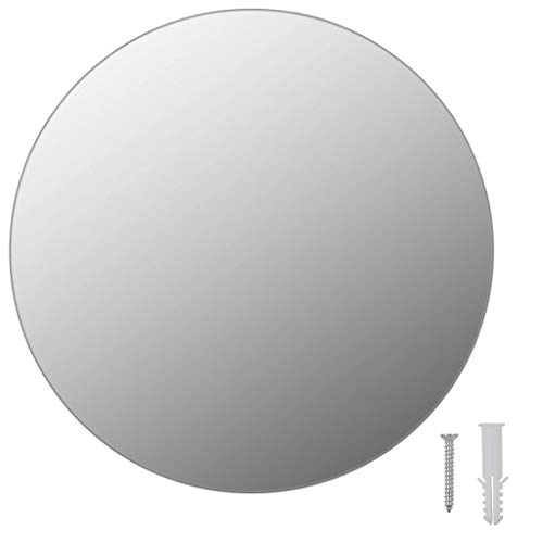 vidaXL Espejo sin marco redondo vidrio 30 cm