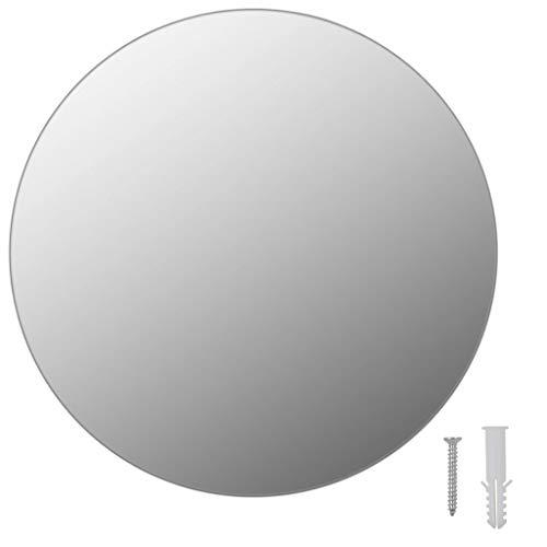vidaXL Espejo sin marco redondo 30 cm Vidrio