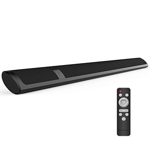 Barras de Sonido para TV Bluetooth Barra de Sonido de Cine en Casa Sonido Envolvente Rich Bass Control Remoto Opt HDMI Coax AUX RCA