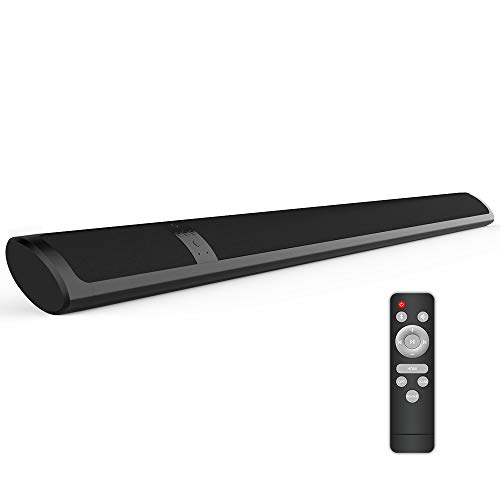 Meidong Barra de Sonido para TV, Bluetooth 4.2 Inalámbrico Barras de Sonido Delgada, 2 Altavoces 36 Vatios Bajo Profundo Envolvente Estéreo Control Remoto para HDMI/RCA/Opt/AUX/Coax/3.5mm Audio