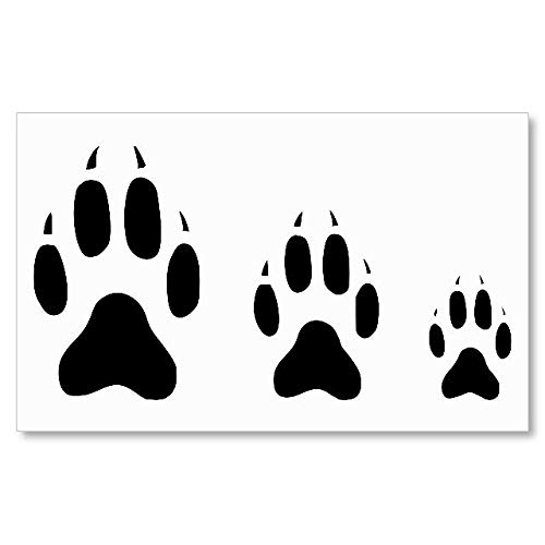 Stencil Wolf Paw Print Logo Reusable Sturdy Flexible Clear Thin Plastic HKaStore 0332