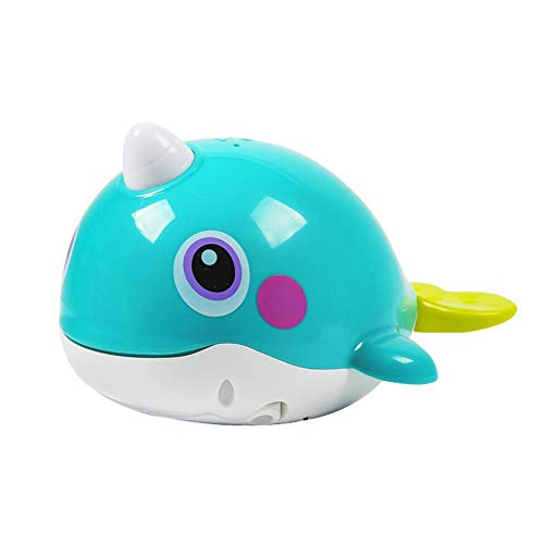 Buy N/D Kids Automatic Whale Tub Shower Toy W/Light, Pet Fish Squirt Water Spray Bathtub Shower Toys...