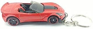 Custom Keychains (2017 Chevy Corvette C7 Z06 Red Convertible Diecast Keychain)