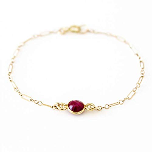 Minimal Bracelet,Gemstone Bracelet Gold dainty bracelet with chain and fluorite gemstones Birthstone Bracelet