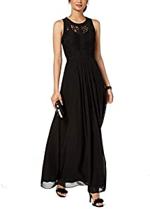B&A by Betsy and Adam Womens Petites Formal Sleeveless Evening Dress