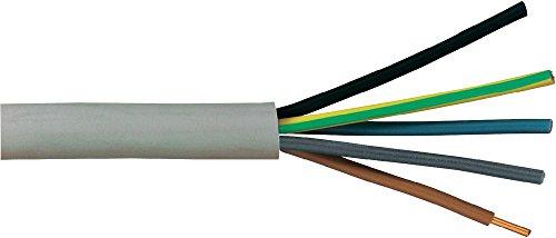 Mantelleitung NYM-J 5 X 1,5mm², grau, Länge wählbar (25m)