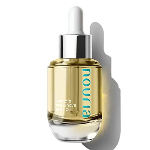 NOURIA Intimate Pre-Shave Elixir Oil de Coochy Plus, fórmula nutritiva acondicionador hidratante HydroLock
