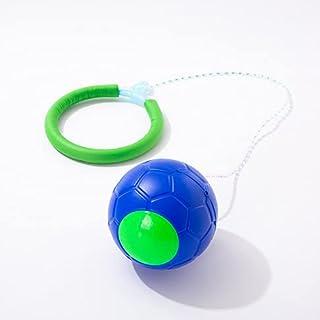 G/L Ankelhoppboll för barn, vikbar ankel hoppboll blinkande hoppande ring färgglad sport svängboll, rolig jumper och träni...