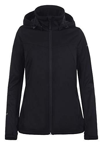 Icepeak Damen Boise Softshell Jacke, schwarz, 40