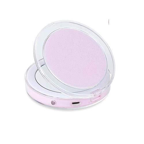 Schminkspiegel, Badezimmerspiegel Handspiegel LED-beleuchteter Reise-Schminkspiegel, 1-fache / 3-fache Vergrößerung - Tageslicht-LED-Kompakt-tragbar