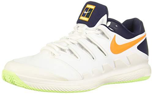 Nike Herren Air Zoom Vapor X Clay Fitnessschuhe, Mehrfarbig (Phantom/Orange Peel/Blackened Blue/White 002), 40.5 EU