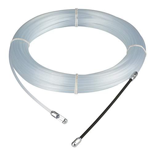 REV 0579502555 PVC Einziehspirale, Kabel Einzugshilfe, 15m, transparent