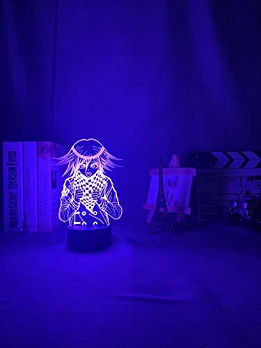 Lámpara de ilusión 3D anime Danganronpa V3 matar armonía LED noche luz juego Kokichi Oma para decoración de dormitorio regalo niños Kokichi Oma luz-control remoto