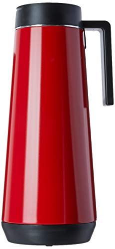 Tramontina mit Griff | Isolierkanne | Thermo-Getränkespende | Edelstahl | Kaffeekanne | 1,0 Liter | Rot 61645-106