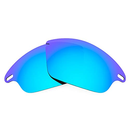 Revant Replacement Lenses for Oakley Fast Jacket, Polarized, Ice Blue MirrorShield