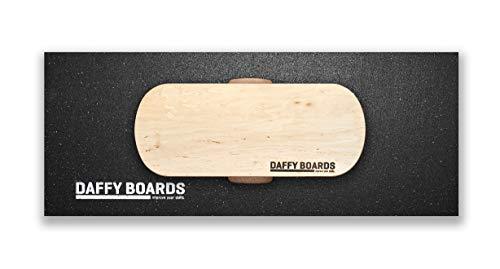 DAFFY BOARDS improve your skills. Balance Board Classic Set mit Korkrolle und Bodenschutz Outdoormatte (Pure