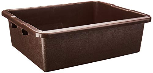 Rubbermaid Commercial Products FG335100BRN Standard Bus/Utility Box, 7.125 Gal, Brown