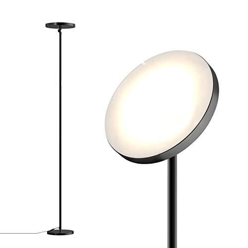 Stehlampe, dodocool 30W Deckenfluter Stufenlos Dimmbar Stehleuchte 17.56cm Höhe Touch-Schalte Stehlampe für Schlafzimmer wohnzimmer Drehfunktion 4 Farbtemperaturen 4 Stufe Helligkeit Zeiteinstellung