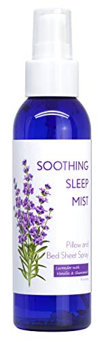 All Natural Sleep Aid For Peaceful and Restful Nights. Reduce Insomnia, Snoring and Restless Sleep. Bed Sheet, Linen and Pillow Spray. Multiple Lavender Based Scents. (Lavender, Vanilla and Chamomile)