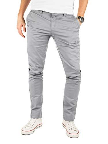Yazubi Chino Herren Hosen - Modell Kyle by Yzb Jeans - Graue Stoffhose Chinohose für Männer mit Stretch, Grau (Gull 4R173802), W29/L30