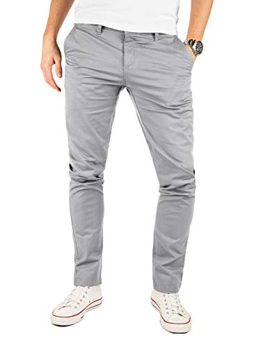 Yazubi Chino Hosen für Herren - Modell Kyle by Yzb Jeans Slim fit - Graue Chinohose Casual mit Stretch, Grau (Gull 4R173802), W32/L34