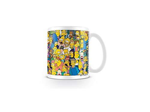 Unbekannt Simpsons - Tasse Kaffeebecher - Bart - Homer - Otto - Lisa - Characters - Geschenkbox