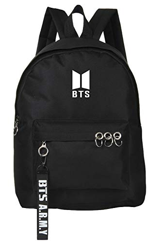 BTS Backpack Unisex Casual School Bag for Teenage Girls Kpop Bangtan Boys Jimin JHope Jin Jungkook Suga V Rap Monster Daypack Camping Outdoor Travel Holiday Knapsack Sport Rucksack Laptop Computer Bag