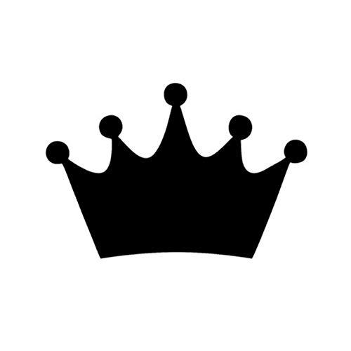 Empty 3 Stück Auto Aufkleber und Abziehbilder 14 * 9,5 cm King Crown Race Wasserdicht Selbstklebend für Laptop Skateboard Gitarre Moto Car Bike DIY Party Patches Abziehbild-Schwarz