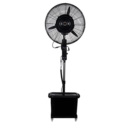 """qwert Ventilador De Pedestal Enfriamiento Oscilante Ventilador De Pulverización Industrial 28""""/ 32"""", 4 Velocidades, Ventilador Eléctrico Servicio Pesado, con Ruedas/Pedestal/Tanque Agua De 43L"""