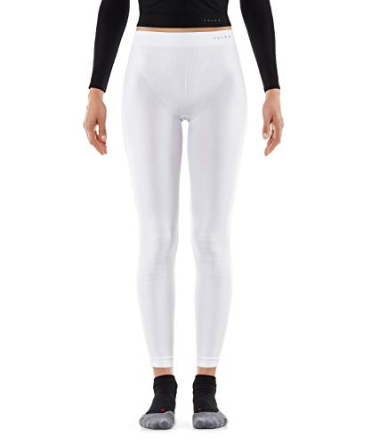 Falke Warm Long Tights Women–Ropa Interior Deportiva, Mujer, Warm Long Tights Women, Blanco, Extra-Small