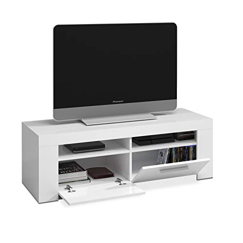 Habitdesign Mueble de Comedor Moderno, modulo TV Salon, Modelo Ambit, Acabado en Color Blanco Artik, Medidas: 120 cm (Ancho) x 40 cm (Alto) x 42 cm (Fondo)