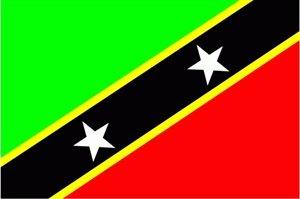 St. Kitts & Nevis Fahne Flagge Grösse 1,50x0,90m - FRIP –Versand®