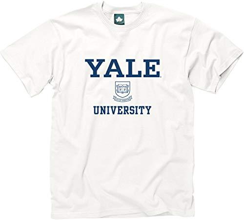 Ivysport Yale University Short-Sleeve T-Shirt Crest, White, Medium