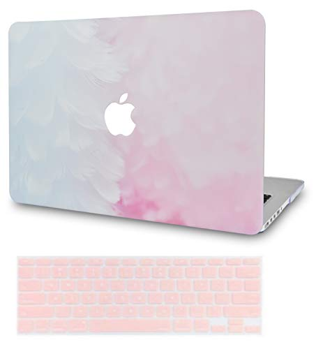 LuvCase 2 in 1 Laptop Case for MacBook Air 13 Inch A1466/A1369 (No Touch ID)(2010-2017) Rubberized Plastic Hard Shell Cover & Keyboard Cover (Pink Cloud Marble)