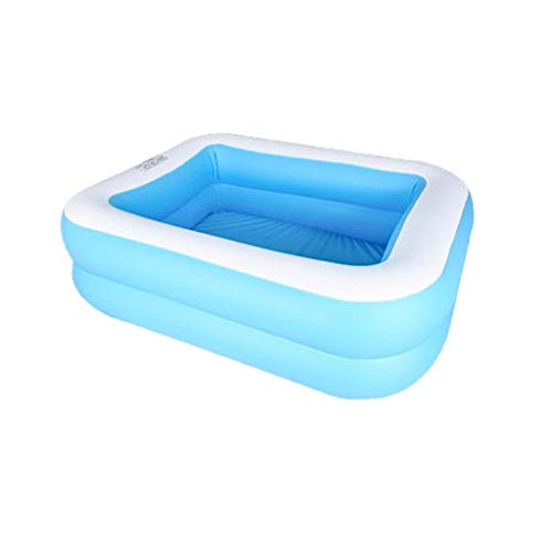 Qvwanle Family Inflatable Swimming Pool, Full-Sized Inflatable Pool Fun Summer Water Game for Kids Adult Toddlers | Garden, Outdoor, Backyard (110 x88x 33cm/43.31x34.65x12.99in)