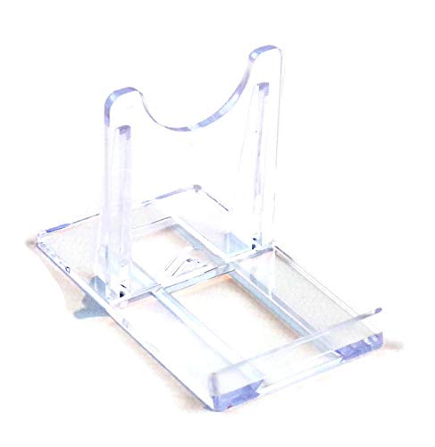 Leeds Display : BR50CP : Adjustable Sliding Plastic Stand : Clear : Small : 5cm, 2' : Plate Support
