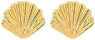 Aretes de Conchas de Mar - Chapa Oro 22k - Elegantia Jewelry