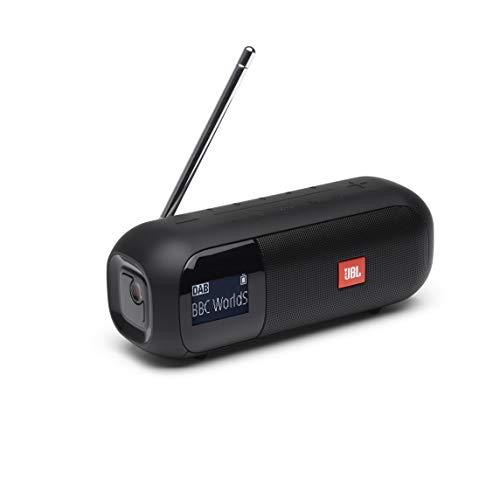 JBL Tuner 2 Radiorekorder in Schwarz – Tragbarer Bluetooth Lautsprecher mit MP3, DAB+ & UKW Radio – Kabelloser Musikgenuss von bis zu 12 Stunden