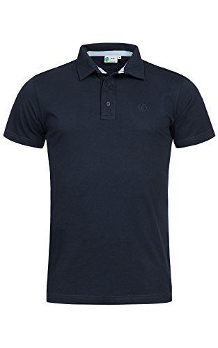 Banqert Herren Polo Shirt Grand Baie, Kurzarmhemd im sportiven Design mit Knopfleiste und Polokragen für Männer aus 100% Baumwolle für Büro und Sport, in Dunkel-Blau XL